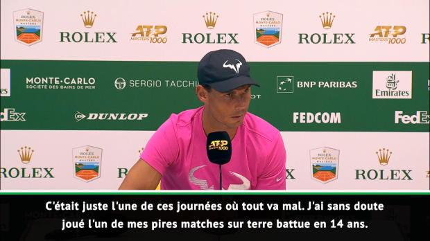 "Basket : Monte-Carlo - Nadal - ""Mon pire match sur terre battue en 14 ans"""