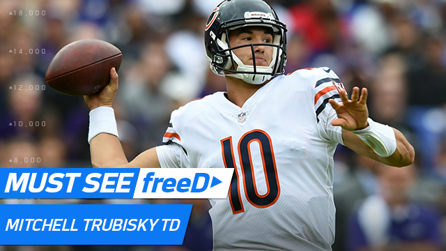 freeD: Go inside Mitchell Trubisky's helmet for his second career TD pass | Week 6