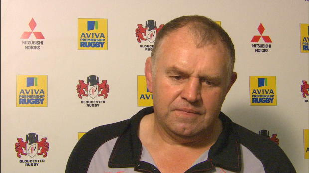 Aviva Premiership - Dean Richards Interviewed After Newcastle beat Gloucester at Kingsholm