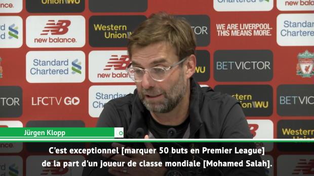 23e j. - Klopp - 'Les 50 buts de Salah ? C'est exceptionnel !'