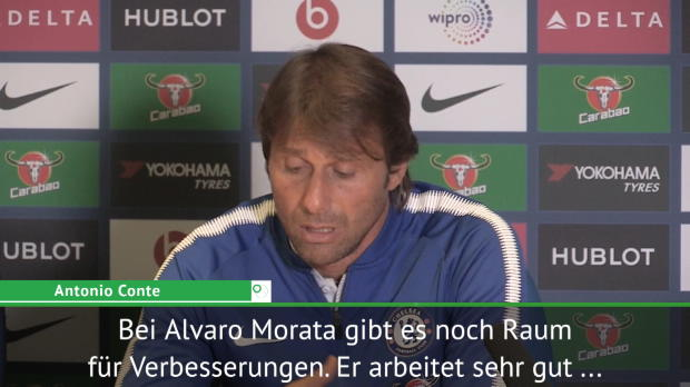"""Conte: """"Raum für Verbesserungen"""" bei Morata"""