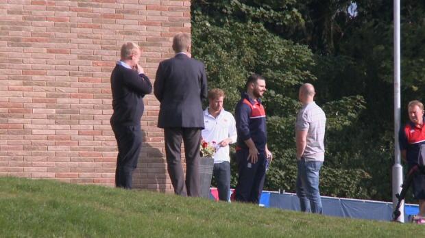CdM 2015 - Le Prince Harry en soutien des Anglais