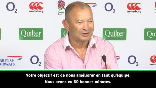 Test Match - Jones - 'Nous améliorer en tant qu'équipe'