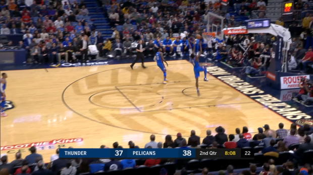 Dunk of the Night: Paul George to Jerami Grant