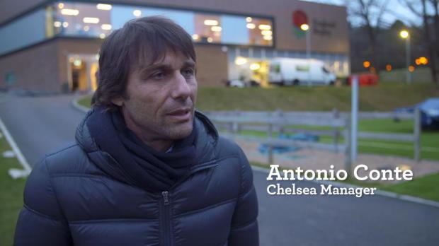 Antonio Conte visits England Rugby