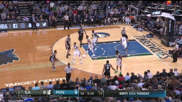 WSC: Highlights: LaMarcus Aldridge (26 points) vs. the Timberwolves, 3/21/2017
