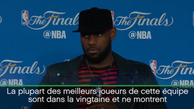 """Basket : Finales - LeBron - """"Golden State sera encore là pour un moment"""""""