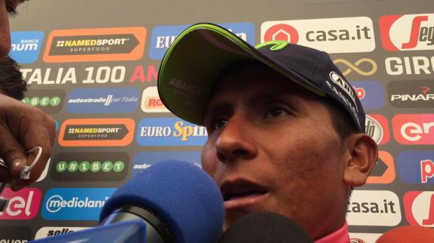 Giro - Nairo Quintana, tras la victoria de etapa