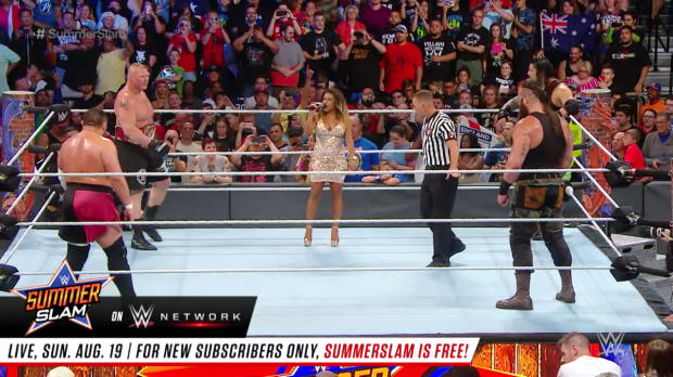 Brock Lesnar vs. Roman Reigns vs. Samoa Joe vs. Braun Strowman - Universal Title Fatal 4-Way Match: SummerSlam 2017 (Full Match - WWE Network Exclusive)