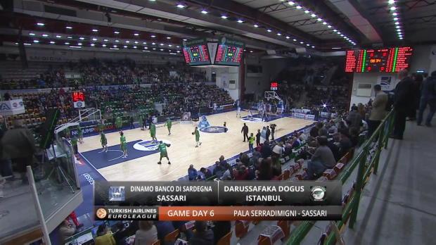Highlights: Dinamo Banco di Sardegna Sassari-Darussafaka Dogus Istanbul