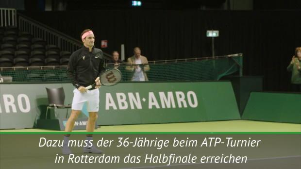 Rotterdam: Federer will zurück an die Spitze