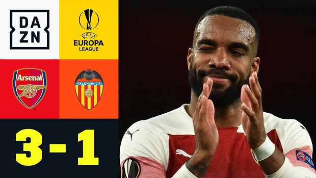 Europa League: Arsenal - Valencia | DAZN Highlights