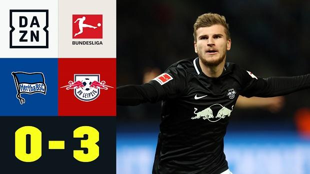 Bundesliga: Hertha BSC - RB Leipzig   DAZN Highlights