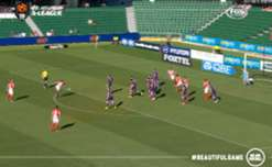 Glory goalkeeper Danny Vukovic produced a string of fine saves to deny Melbourne City at nib Stadium.