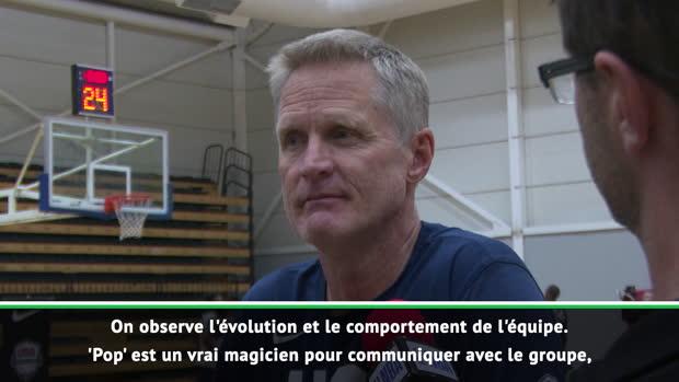 """Basket : États-Unis - Kerr - """"Popovich est un vrai magicien dans la communication"""""""
