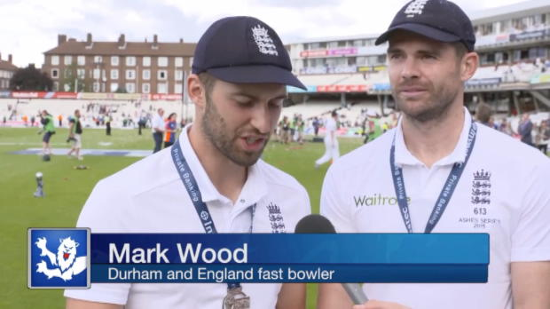 Wood and Anderson react to lifting urn