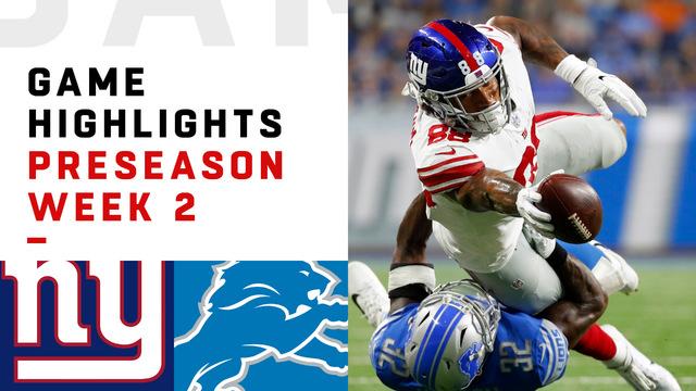 Giants vs. Lions highlights | Preseason Week 2