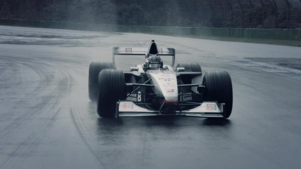 F1: Rosberg in Häkkinens-Weltmeisterwagen