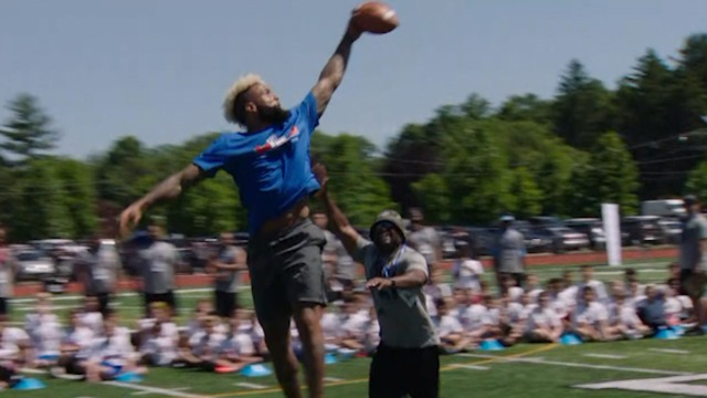 Best moments from New York Giants wide receiver Odell Beckham Jr.'s youth football camp