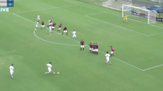 Marc Tokich scores against WSW FC in Rd 9 of FNYL 2016-17