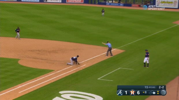Snyder's fantastic stop at first