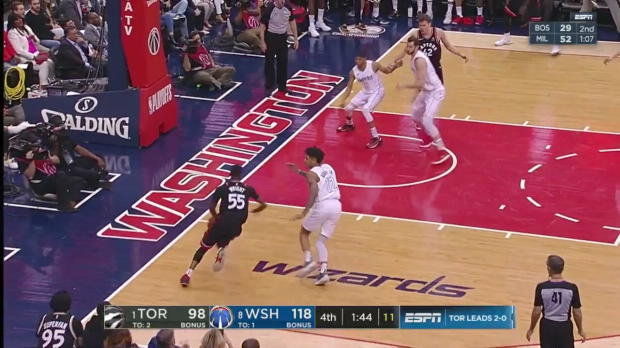 WSC: Jakob Poeltl (5 points) Highlights vs. Washington Wizards, 04/20/2018