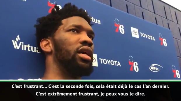 Basket : NBA - Embiid fait le point sur son état de santé avant les playoffs