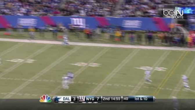 NFL : Le touchdown exceptionnel des Giants
