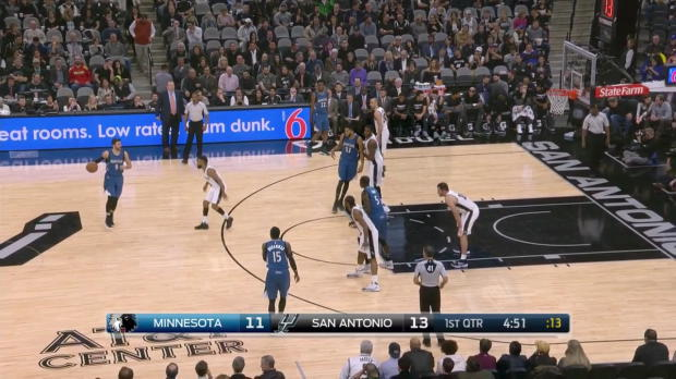 WSC: Highlights: Karl-Anthony Towns (27 points) vs. the Spurs,