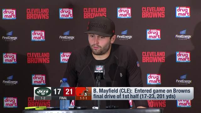 Baker Mayfield on win: 'I'm just getting started'