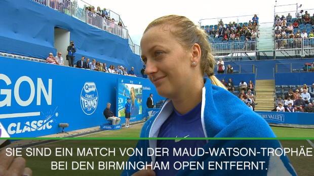 """Birmingham: Kvitova im Finale! """"Wie ein Traum"""""""