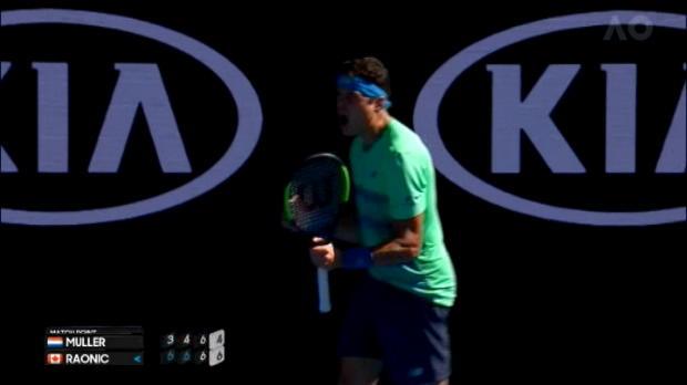 تنس: بطولة استراليا المفتوحة: راونيتش يتغلب على مولر في ثلاث مجموعات