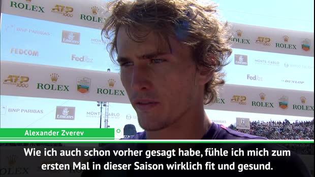 """Monaco: Zverev: """"Zum ersten Mal wirklich fit"""""""