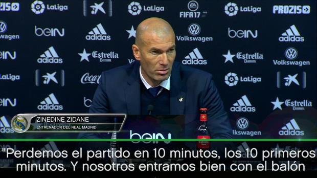 """Zidane: """"Perdemos el partido en 10 minutos"""""""