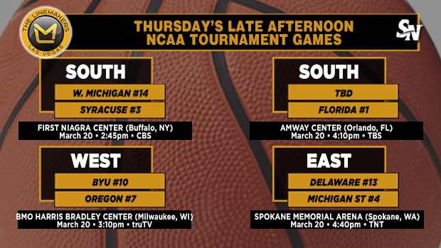 Thursday's late-afternoon NCAA Tournament games