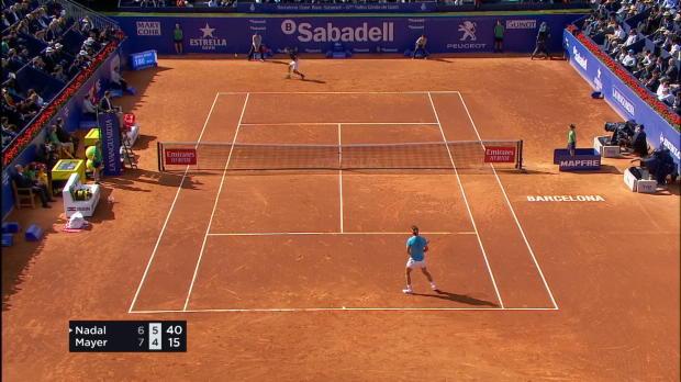 Tennis : Barcelone - Nadal bataille mais gagne face à Mayer