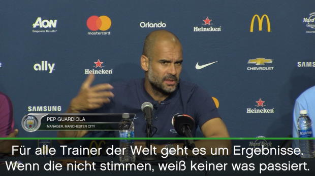 "Guardiola: ""So lange wie möglich bei City"""