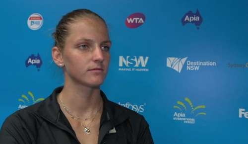 Pliskova Interview: WTA Sydney 1R