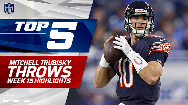 Top 5 Mitchell Trubisky throws | Week 15