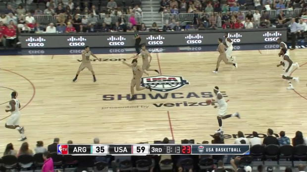 WSC: Carmelo Anthony with 5 3-pointers against Argentina
