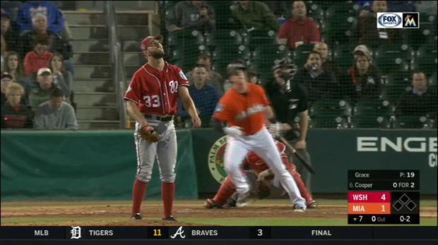 Cooper's solo home run