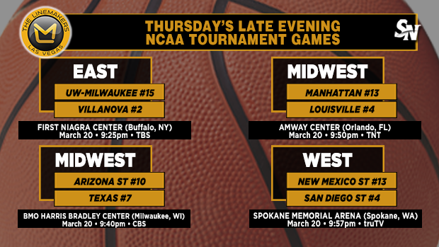 Thursday's late-evening NCAA Tournament games