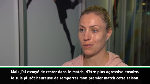 : Sydney - Kerber - 'Heureuse de gagner mon premier match de la saison'