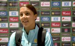 Hear from the Westfield Matildas after their 2-1 win over Brazil in Penrith.