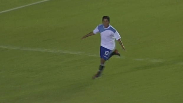 Bolivien: Langer Ball, Volley, Traumtor!