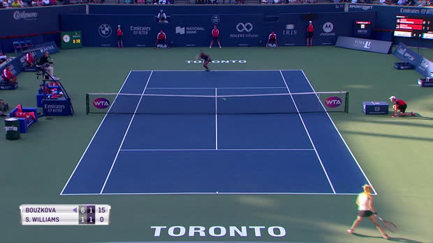 Basket : Toronto - Serena Williams renverse Bouzkova et défiera Andreescu en finale