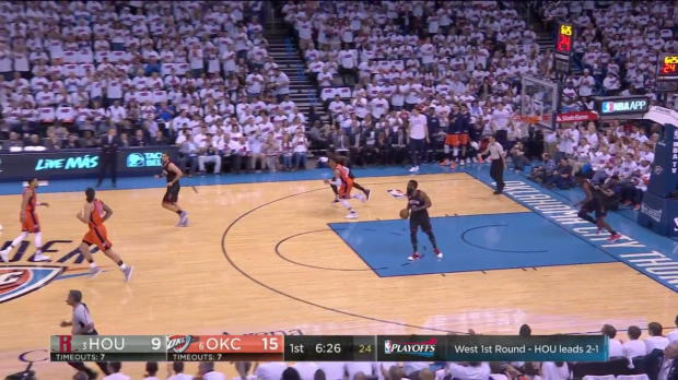 WSC: Russell Westbrook with 14 Assists against the Rockets