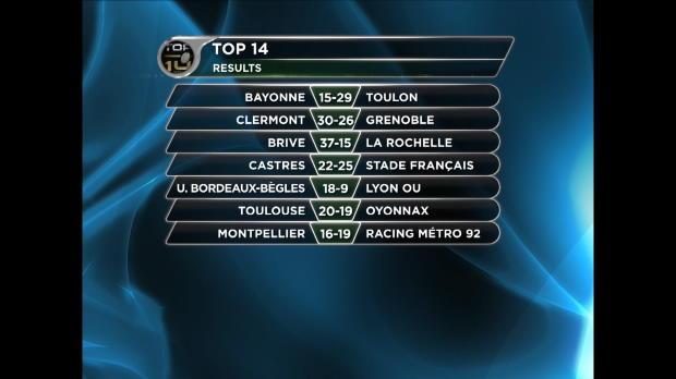 Top 14 - 1�re j. : Le Stade Fran�ais et Clermont au rendez:vous