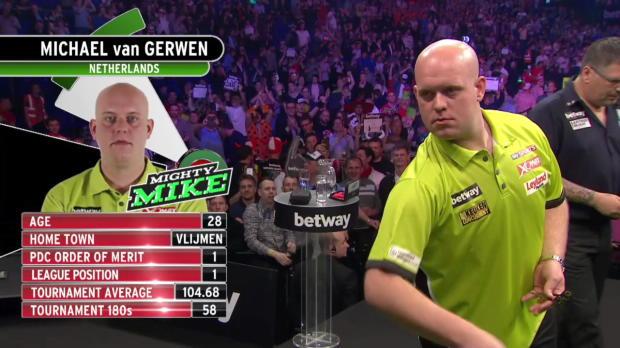 Darts Premier League Halbfinale: Van Gerwen - Anderson