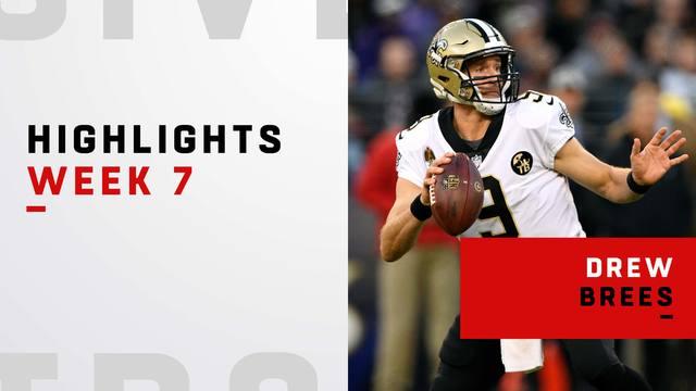 Drew Brees' best throws against the Ravens | Week 7